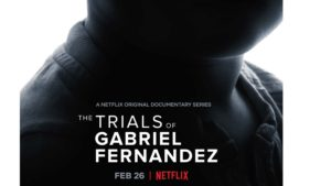 Netflix Movie poster Trials of Gabriel Fernandez dramatic ominous black and white photo child's neck in shadow